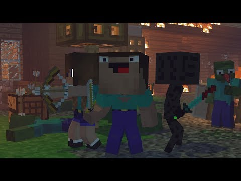Skyblock War: Part 1 - Minecraft Animation | Noob & Brothes Series
