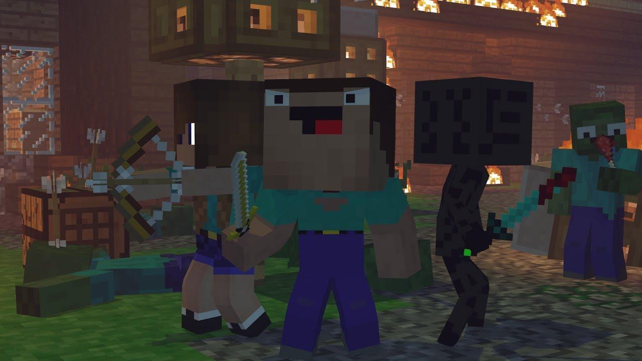 Skyblock War Part 1 Minecraft Animation Noob