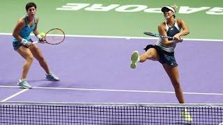 Muguruza/Suarez Navarro vs  Garcia/Srebotnik   2015 WTA Finals Highlights