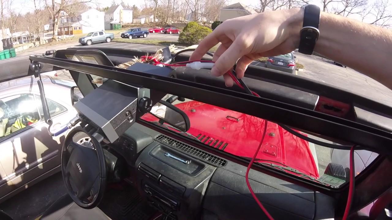 Cb Radio Install Tune Jeep Wrangler Tj Youtube
