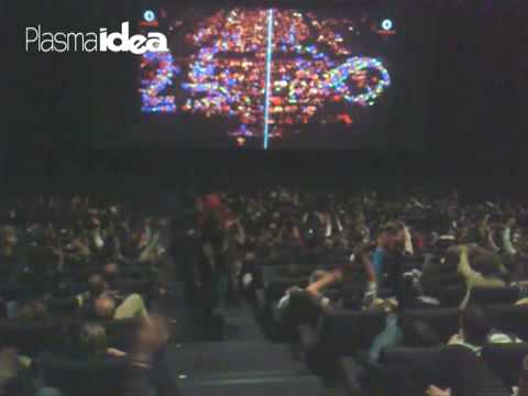 Vodafone Kinepolis MADRID Interactive Cinema Advertising Crowd Game