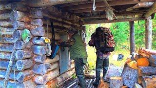 Жизнь в тайге Грибалка Жаренная картошка с грибами Кум ушёл на рыбалку и пропал 4