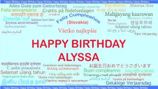 Alyssa   Languages Idiomas - Happy Birthday