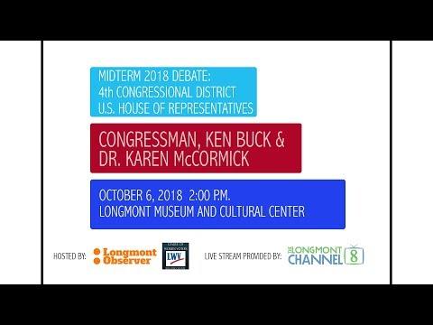 Midterm 2018 Debate: Buck & McCormick - The Longmont Channel - LIVE STREAM