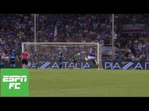 Sampdoria's Fabio Quagliarella vies for goal of the year with backheel beauty | ESPN FC