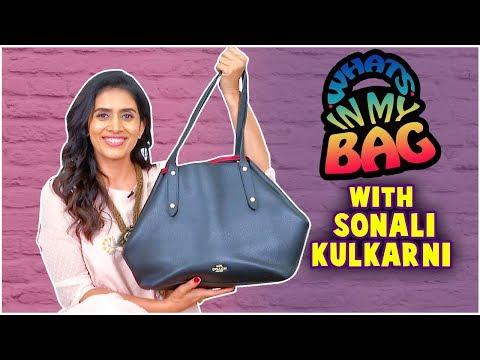 What's in my bag- ft.Sonali Kulkarni   Ani Dr. Kashinath Ghanekar   Deool