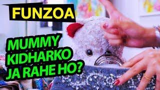 Mummy Kidharko Ja Rahe Ho? 😀  Funzoa Mimi Teddy | Funny Mom & Daughter Song