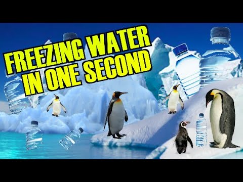 FREEZE WATER IN 1 SECOND :) VERY COOL