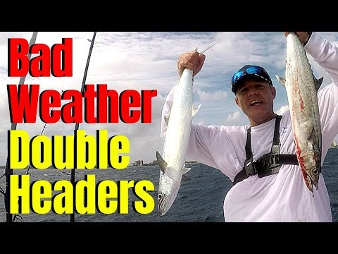 South Florida OFFSHORE FISHING | Bad Weather | Double Header