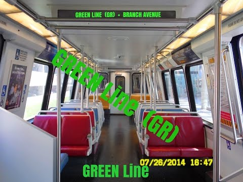 🚇/💺 WMATA Metrorail: Green Line (GR) to Branch Avenue... FULL RIDE!