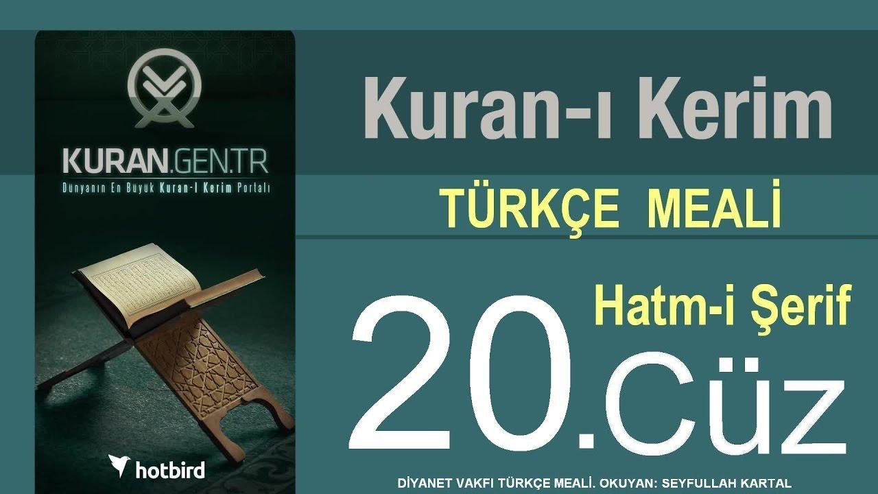 Türkçe Kurani Kerim Meali, 20 Cüz, Diyanet vakfı, Hatim, Kuran.gen.tr