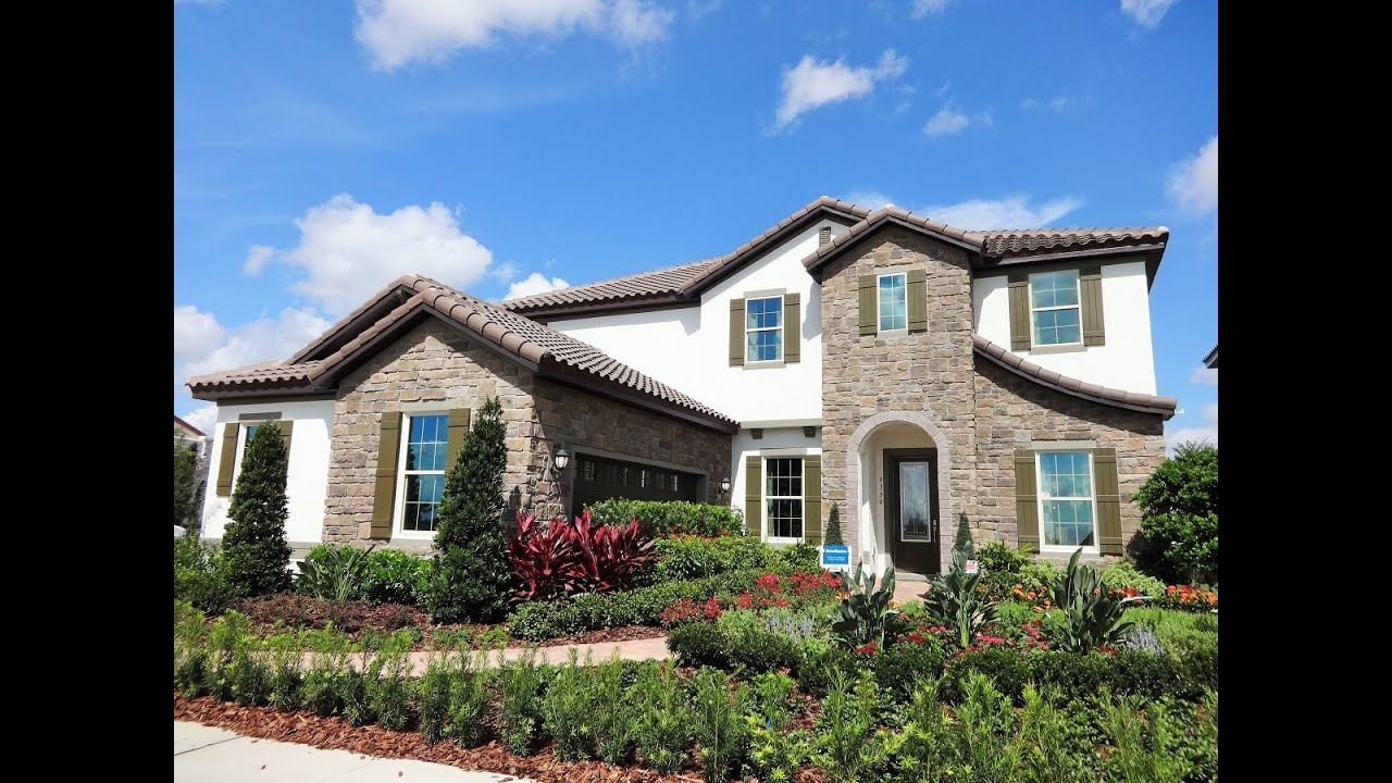 Watermark by meritage homes hawthorne model winter Garden home communities
