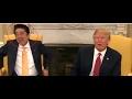 Hilarious  Handshake Trump VS Abe Japanese Prime Minister