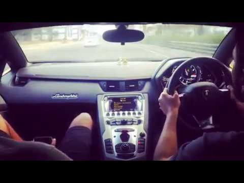 Lamborghini in chennai traffic Race