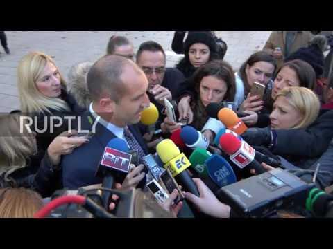 Bulgaria: President-elect Radev meets with incumbent Plevneliev in Sofia