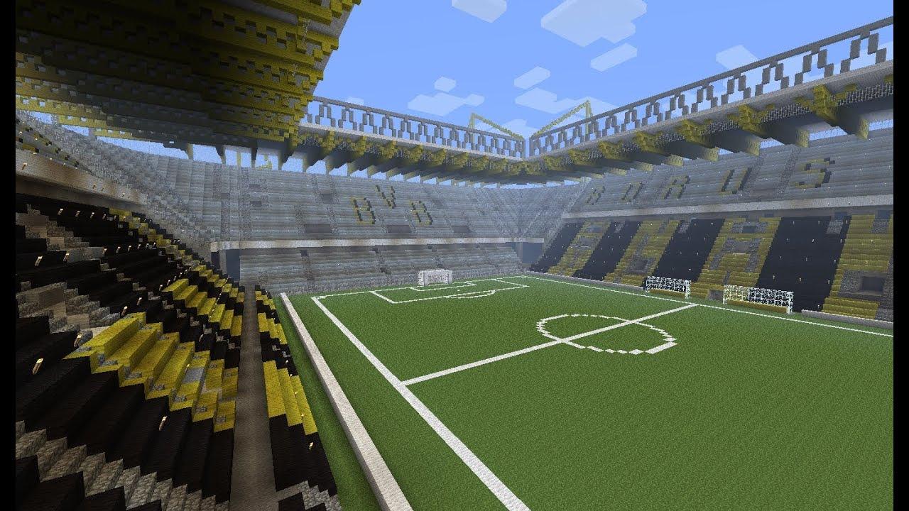 borussia dortmund signal iduna park stadion w minecraft. Black Bedroom Furniture Sets. Home Design Ideas