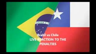 Brazil vs Chile Penalty Shootout LIVE REACTION - FIFA World Cup 2014 - Knockout Stage