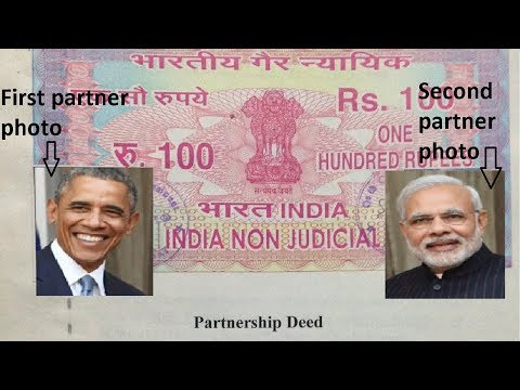 How to register a Partnership Firm company in India - explanation with original partnership deed
