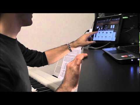 ipad 2 garageband collegamento di un pianoforte elettronico midi usb youtube. Black Bedroom Furniture Sets. Home Design Ideas