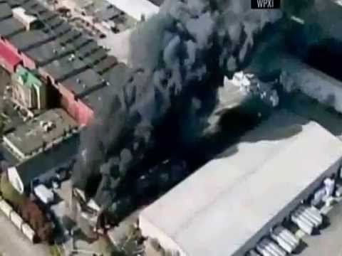 5-alarm industrial fire in Pennsylvania forces evacuation of nearby homes - November 17, 2015