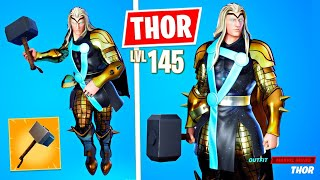 Unlocking GOLD THOR! Winning in Solos! (Fortnite Season 4)