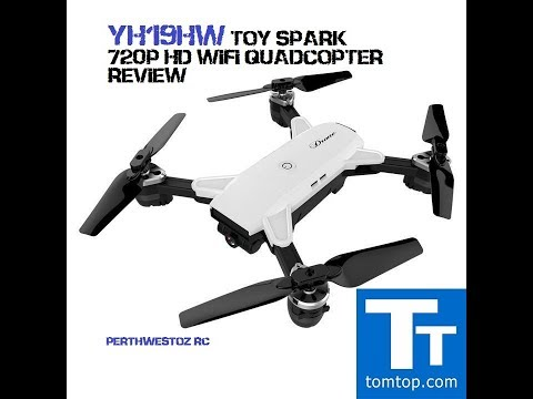 YH-19HW 720P HD WIFI TOY SPARK QUADCOPTER REVIEW