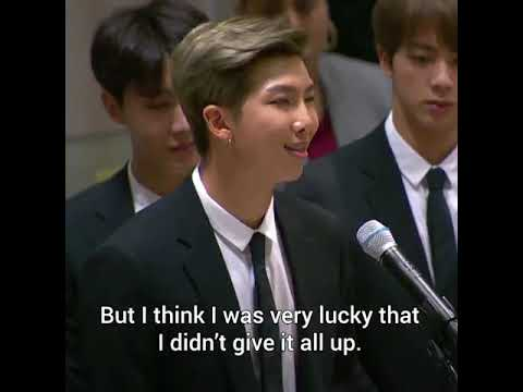 Bts Kim Namjoon S Full Speech At United Nations With Subtitles Youtube