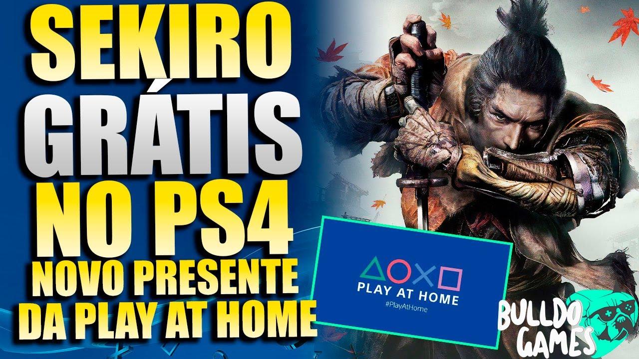 SEKIRO GRÁTIS PARA SEMPRE NO PS4 e PS5 ?! E NOVO PRESENTE DA PLAY AT HOME FUNCIONANDO !!!