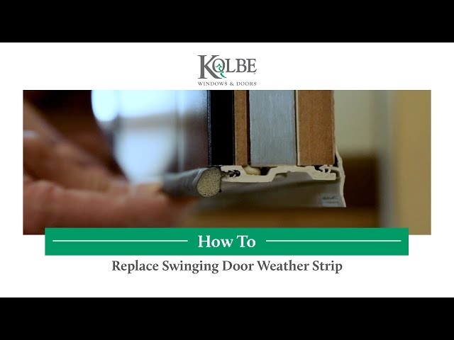 How to Replace Swinging Door Weather Strip