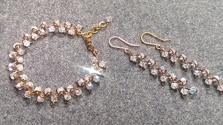bracelet and earrings zigzag - How to make wire jewelry 142