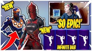 Streamers React To *NEW* Criterion Skin And Infinite Dab EMOTE! | Fortnite Epic & Funny Moments |