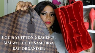 LOUIS VUITTON GRACEFUL MM with The Samorga bag organizer/What Fits