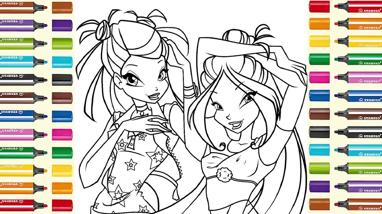 Winx Club colouring page for kids | Раскраска Bинкс ...