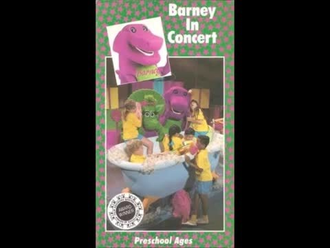 Barney The Backyard Gang Barney In Concert Cassette YouTube - Barney and the back yard gang barney in concert