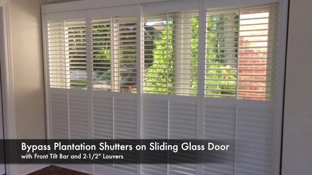 Glass Door plantation shutters for sliding glass door photos : ASAP BLINDS JOB OF THE WEEK 6/1/17 - Plantation Shutters, Sliding ...