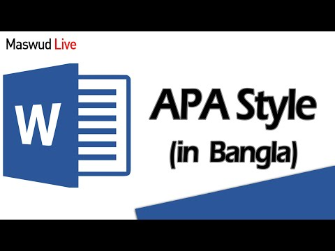 APA Style: Adding Citations & References Using MS Word in Bangla