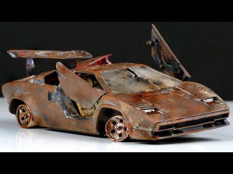 Restoration abandoned Lamborghini Countach Repair model car