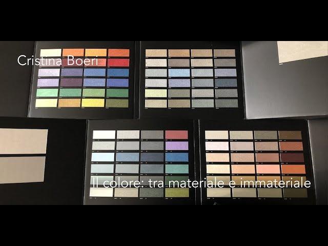 Luce e Colore tra Arte e Design | Cristina Boeri - Il colore: tra materiale e immateriale