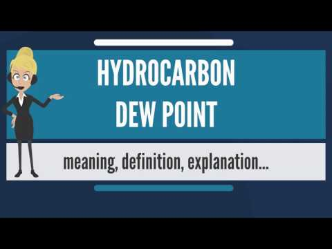 What is HYDROCARBON DEW POINT? What does HYDROCARBON DEW POINT mean?