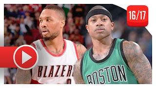 Damian Lillard vs Isaiah Thomas PG Duel Highlights (2017.02.09) Celtics vs Blazers - EPIC!
