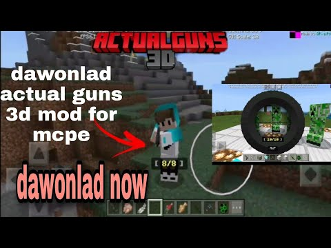 Download How to dawonlad actual guns in minecraft pe ,so easy by courx5 gamer 🤩🤩🤩🤩🤩🥰🥰🥰