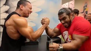LARRY WHEELS & SANGRAM CHOUGULE ARM WRESTLING IN INDIA