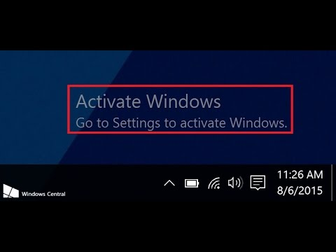 how to hide windows 10 activation watermark