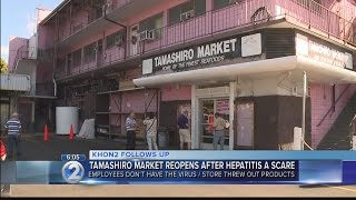Tamashiro Market reopens after workers cleared of hepatitis A