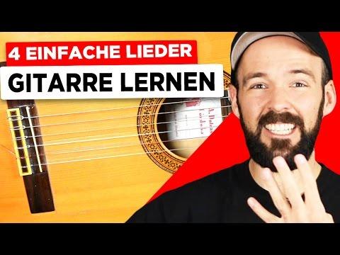 Gitarre lernen für Anfänger - 4 sehr einfache Lieder - Knocking on heavens door, 7 Nation Army,...