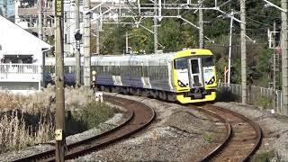 JR東日本 E257系500番台八トタNB12編成 ホリデー快速鎌倉号 鎌倉行き 北鎌倉駅付近通過
