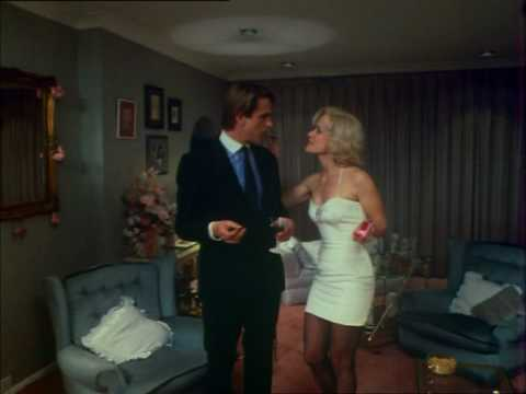 Jenny Seagrove in a tight minidress during a  from the movie 'A Chorus of Disapproval'.