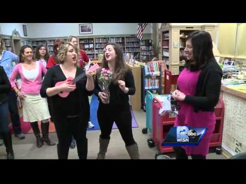 Milwaukee School Staff Surprises Their Principal With Valentine's Day Song