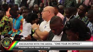Encounter with the Media: President Akufo-Addo on Energy
