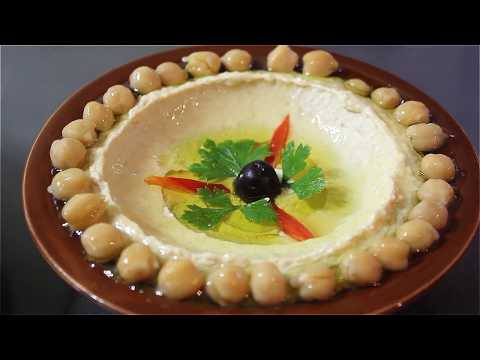 طريقه عمل حمص بطحينه ( وصفه لبنانيه)   ..How to make Hummus